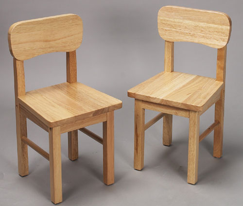 Giftmark 1409N Solid Wood Chair Set Natural Extra Chairs To Go With 1407N Set