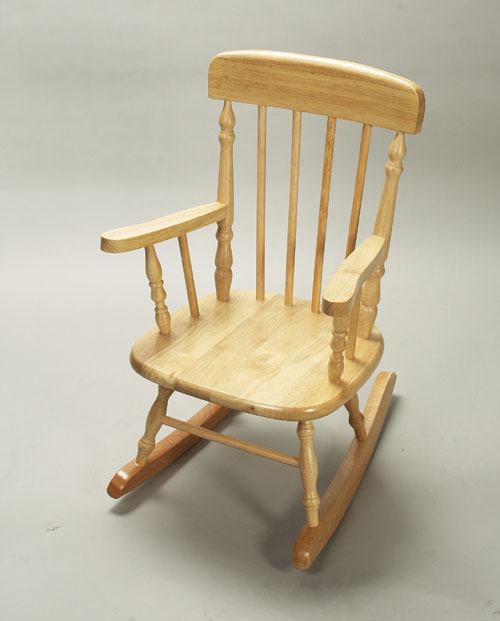 Giftmark 1410N Child s Spindle Rocking Chair Natural