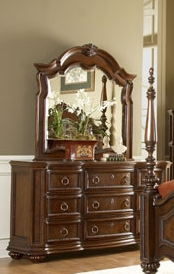 Home Elegance 1390-5 Prenzo Triple Dresser - Brown