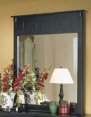 Home Elegance 875-6 Pottery Wall Hanging Mirror - Black