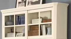 Home Elegance 8891-12T WHT STACKABLE BOOKCASE TOP CROWN
