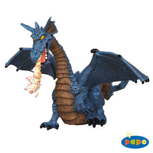Papo 39025 Winged Blue Dragon with Fire Pack of 5 HOT268