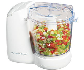 Hamilton Beach 72600 WHT FreshChop Food Chopper - White pack of 2 HSTZ5259