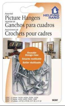 FAUCET QUEEN 50307 Ast.Picture Hangers Case of 3