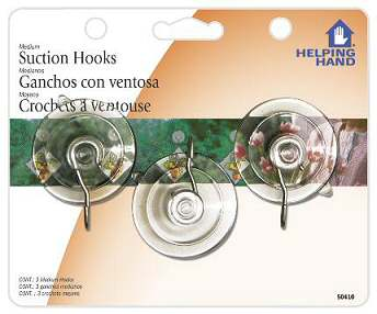 Faucet Queen 50410 Med Suction Cup Hook - Case Of 3 HSTZCS2889