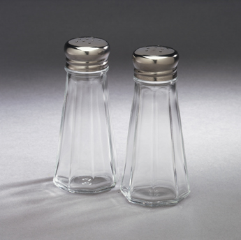 Arrow Plastic 828 Clear Classics Salt and Pepper Set - 3oz -