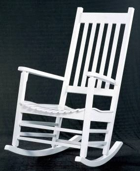 International Concepts R-51864 Solid Wood Porch Rocker - White