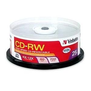 Verbatim 12x CD-RW Media 700MB 120mm Standard 95155