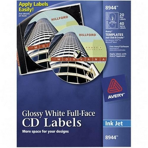 Avery Dennison Full Face CD Labels Matte CD-DVD Label 8960