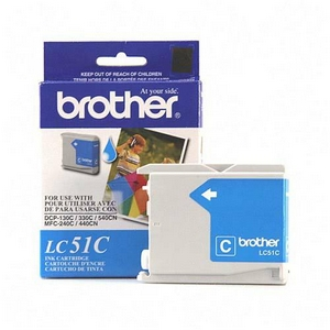Brother Cyan Inkjet Cartridge For MFC-240C Multi-Function Printer 400 Page Cyan LC51C