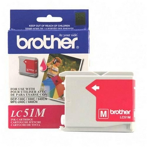 Brother Magenta Inkjet Cartridge For MFC-240C Multi-Function Printer 400 Page Magenta LC51M