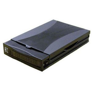 Addonics Mobile Rack Hard Drive Enclosure Drive Cabinet 1 x 3.5 Inch 1-3H Internal Black AAHDSA35CS