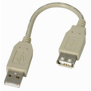 Startech Fully Rated USB 2.0 Extension Cable 6 Inch 1 x Type A  1 x Type A Extension Cable Gray USBEXTAA6IN