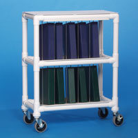 Innovative Products Unlimited NCR10 L NOTEBOOK CHART RACK - HOLDS 10 RING BINDERS