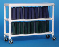 Innovative Products Unlimited NCR20 L NOTEBOOK CHART RACK - HOLDS 20 RING BINDERS
