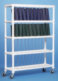Innovative Products Unlimited NCR40 L NOTEBOOK CHART RACK - HOLDS 40 RING BINDERS