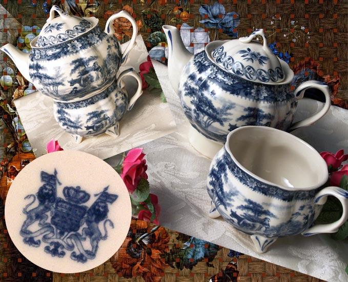 "IWDSC 0158038 7.5""Blue Porcelain Tea for One"