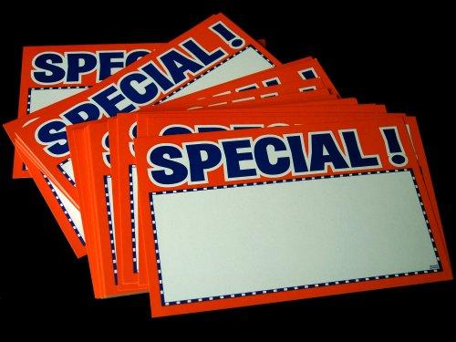 Florescent Orange Special Retail Tags