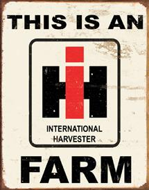 "IWDSC 034-1279 2.5""W x 16""H IH Farm Metal Tin Sign"