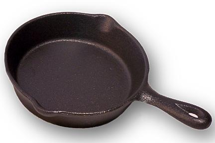0166-10137 4.5″Dia. Cast Iron Spoon Rest Skillet