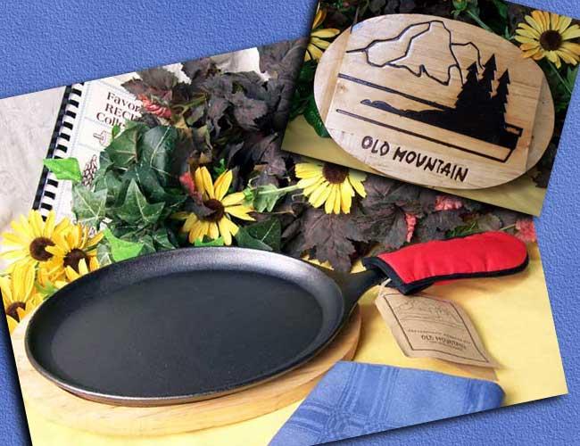 IWDSC 0166-10132 Cast Iron Old Mountain Fajita Set