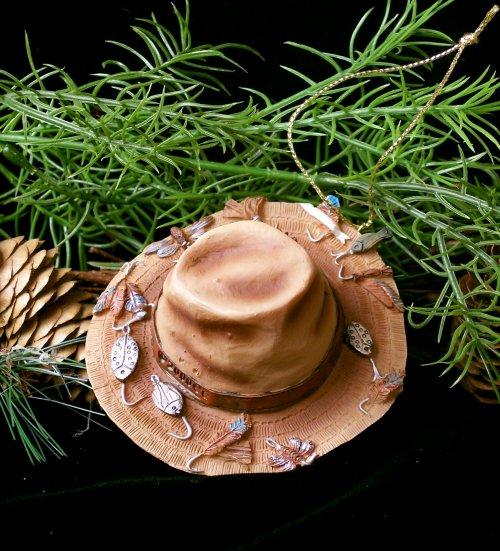 Fishing Hats - Fishing Hat Ornament Gone Fishin'