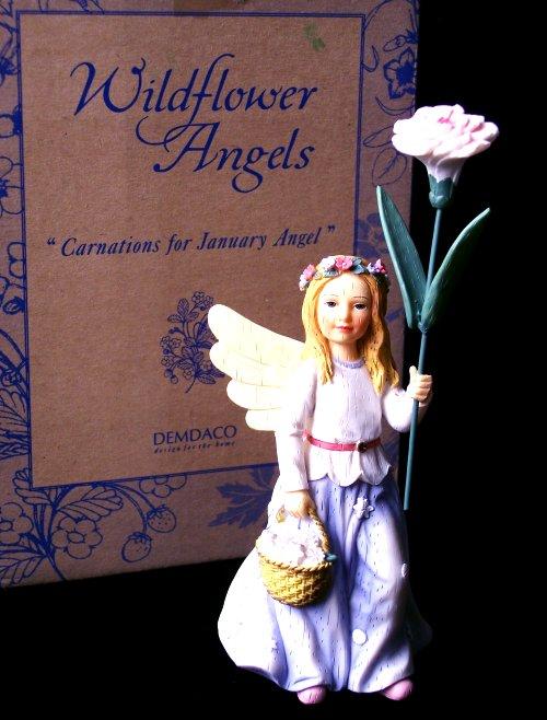 Demdaco Wildflower Angel Carnations
