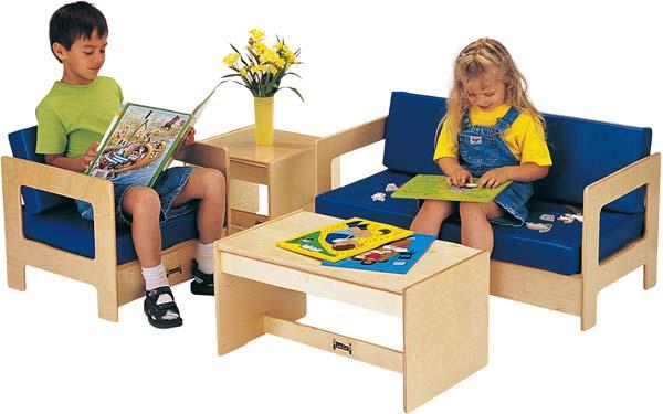 Jonti-Craft 0381TK Thriftykydz Blue Living Room Set - 4 Piece