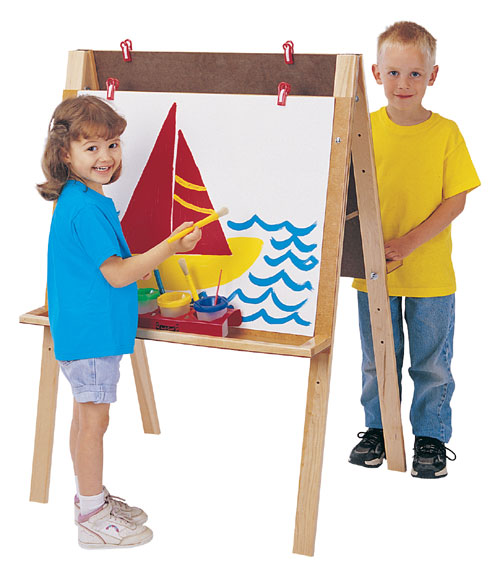 Jonti-Craft 0218JC DOUBLE ADJUSTABLE EASEL