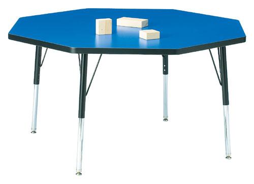 Jonti-Craft 6428JCE180 KYDZ ACTIVITY TABLE - OCTAGON - 48 INCH x 48 INCH  15 INCH - 24 INCH HT - GRAY