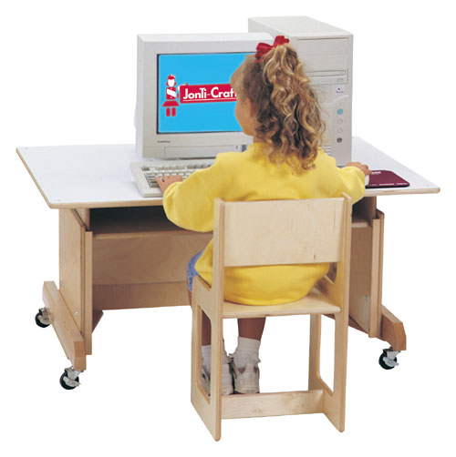 Discount Electronics On Sale Jonti-Craft 0345JC COMPUTER TABLE - WHITE