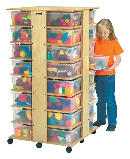 Jonti-Craft 03540JC 32 CUBBIE TOWER With clear tubs