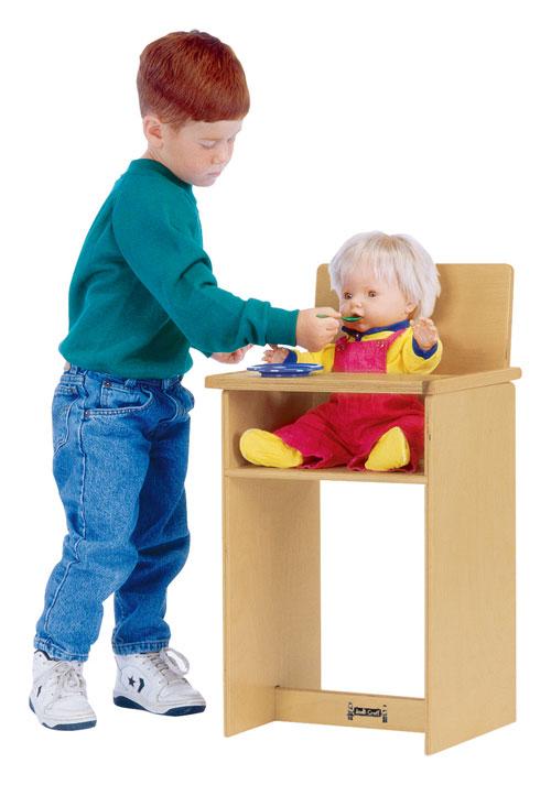 "Jonti-Craft 0495JC 12"" D x 25"" H Doll High Chair"