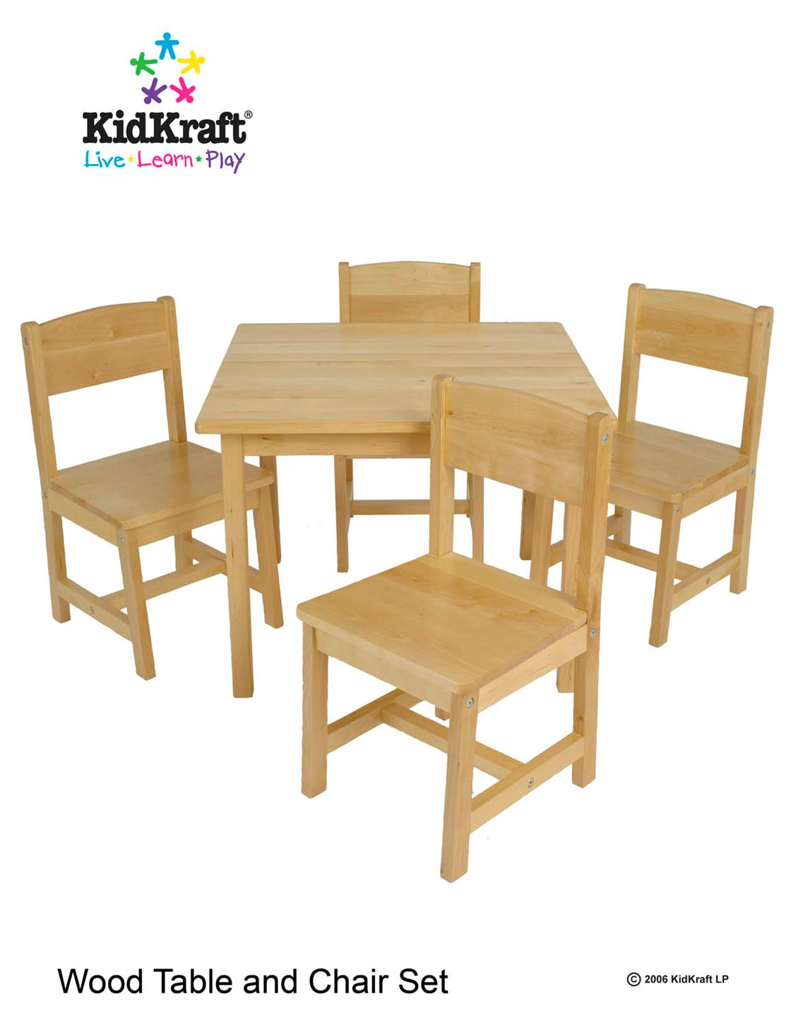 Kid Kraft Farmhouse Table & Chair Set 21421