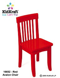 KidKraft 16602 Avalon Chair - Red