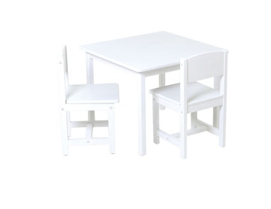KidKraft 21201 Aspen Table & 2 Chairs - White