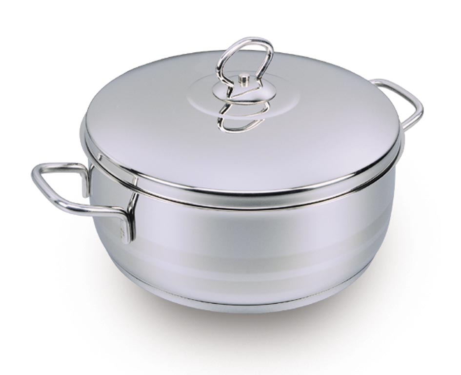 YBH Home A1907 Astra 5.75 Quart Casserole Dutch Oven With Lid