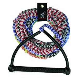 Kwik Tek  AHSR-8 Water Ski Rope  8-Section  Radius Handle