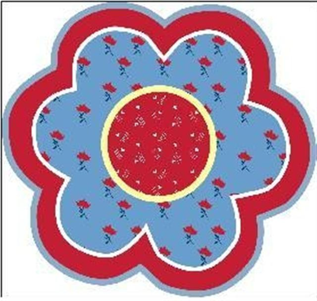 Cheap Bandanas - LA Rug FTS-186 39RD Fun Time Shape Bandana Flower High Pile Rug - 39 Inch Round