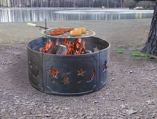 Landmann 28325 Star and Moon Cast Iron Black Fire Ring