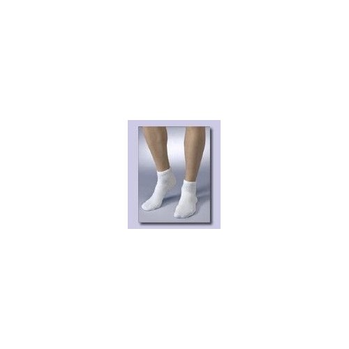 Medicool SILV SWMC Silver Knit Small Mini Crew White Diabetic Socks
