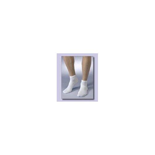 Medicool SILV LWMC Silver Knit Large Mini Crew White Diabetic Socks