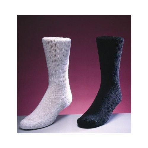 Medicool SILV LBC Silver Knit Large Crew Black Diabetic Socks