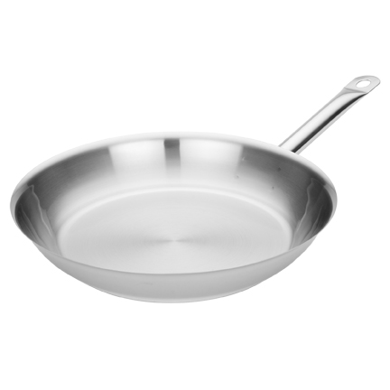 MIU France 95039 Stainless Steel Stay-Cool 12 Inch Open Fry Pan