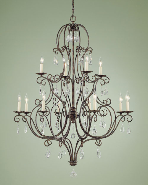 Feiss F1938/8+4MBZ Chateau Collection Mocha Bronze 12 Light two tier Chandelier