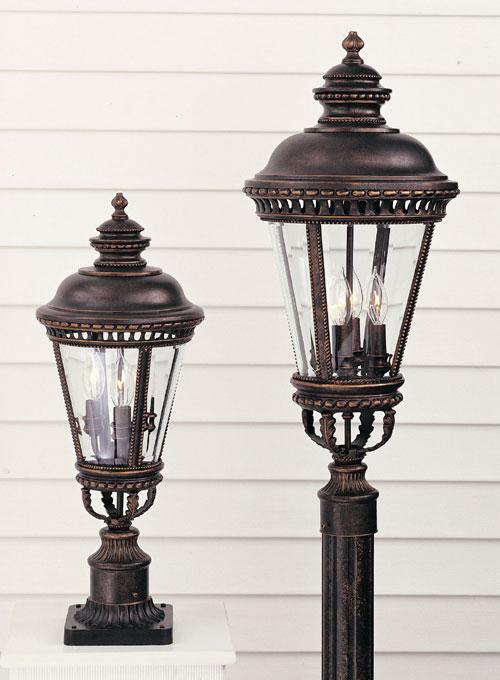Feiss OL1907GBZ Castle Grecian Bronze Pier/Post Lantern