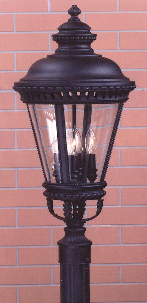 Feiss OL1908BK Castle Black Pier/Post Lantern
