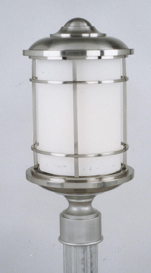 Feiss OL2207BS Lighthouse Brushed Steel Pier/Post Lantern