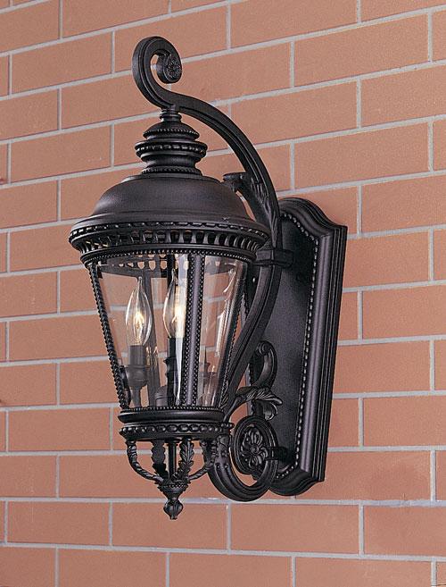 Feiss OL1901BK Castle Black Wall Mount Lantern