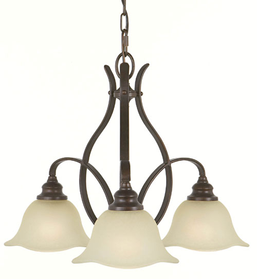 Feiss F2049/3GBZ Morningside Collection Grecian Bronze Chandelier - Kitchen